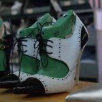 Handmade shoes in production